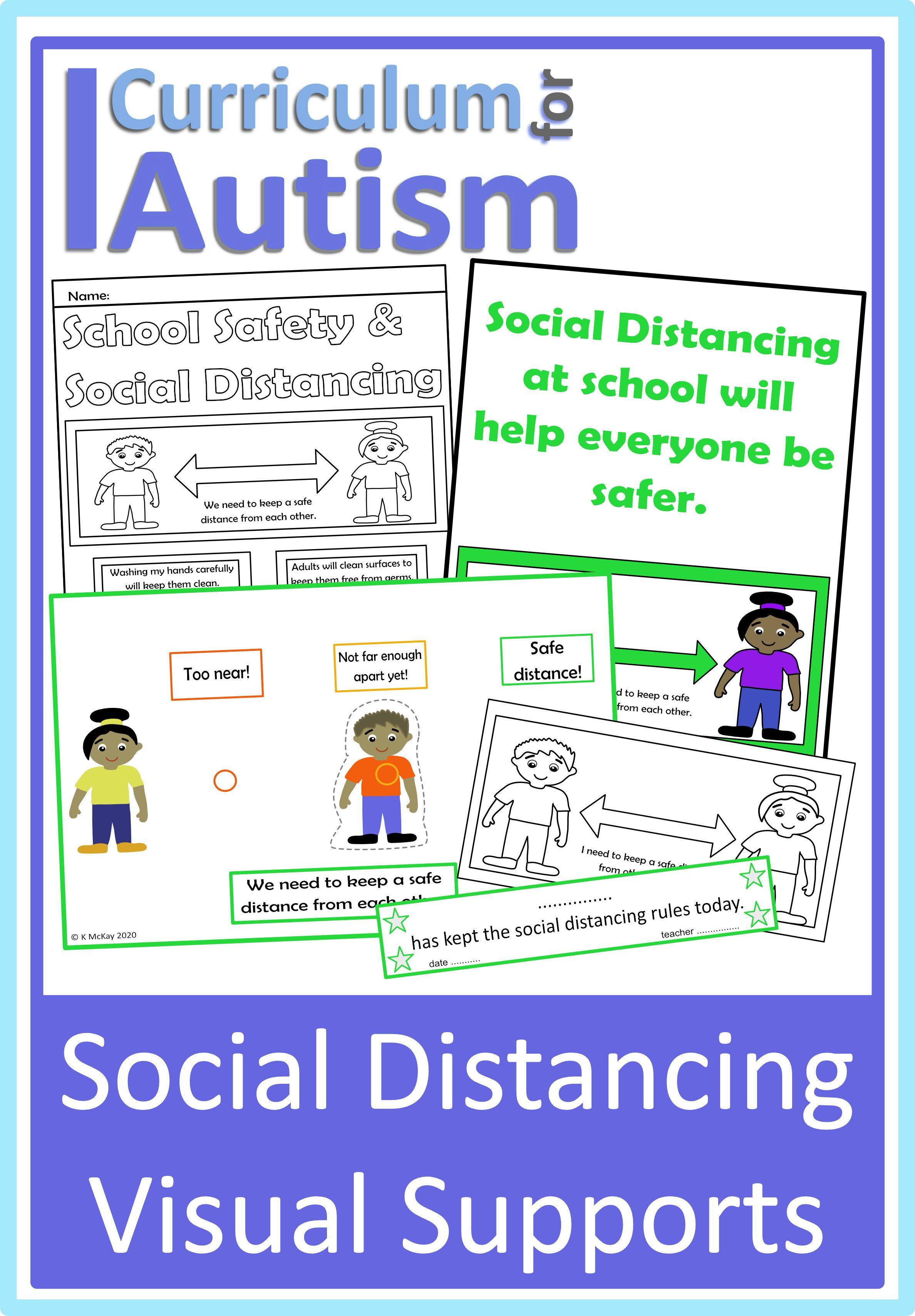 Social Distancing At School Visual Supports