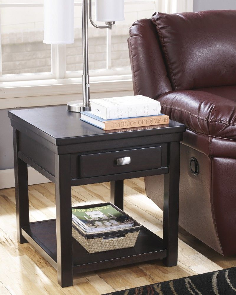 Hatsuko Rectangular End Table Espresso End Table Sofa End Tables Furniture