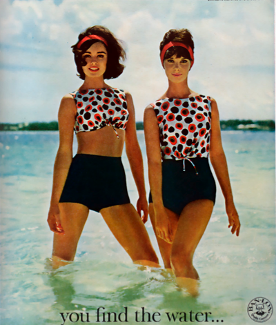 0ea3697d1c75e 60 s swimwear that I wish had cherries instead of flowers!!