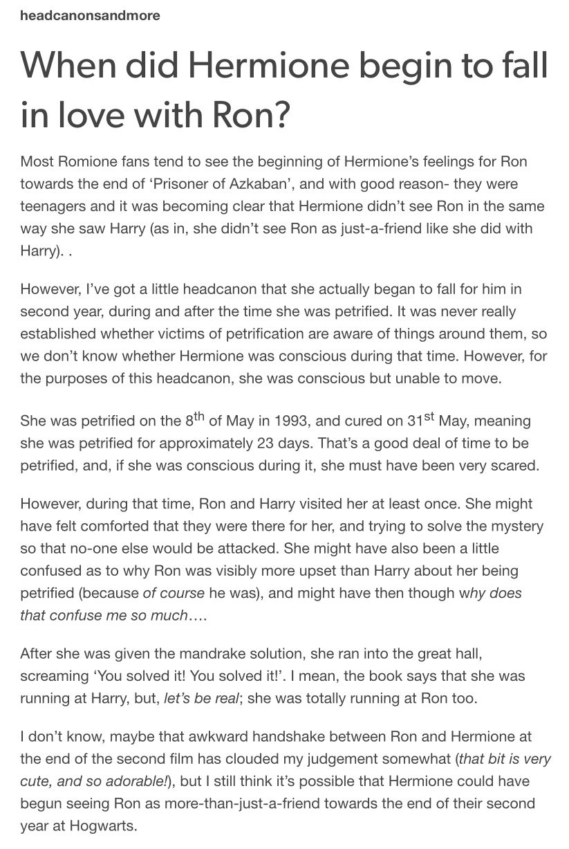 Ron X Hermione Headcanon When Did Hermione Begin To Fall -4966