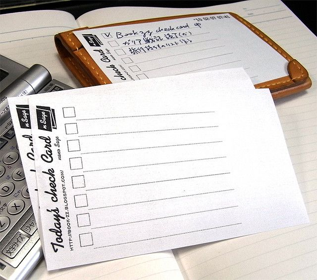 5x3 Check List Card Nsage Filofax Planners Planner Addicts Diy Planner