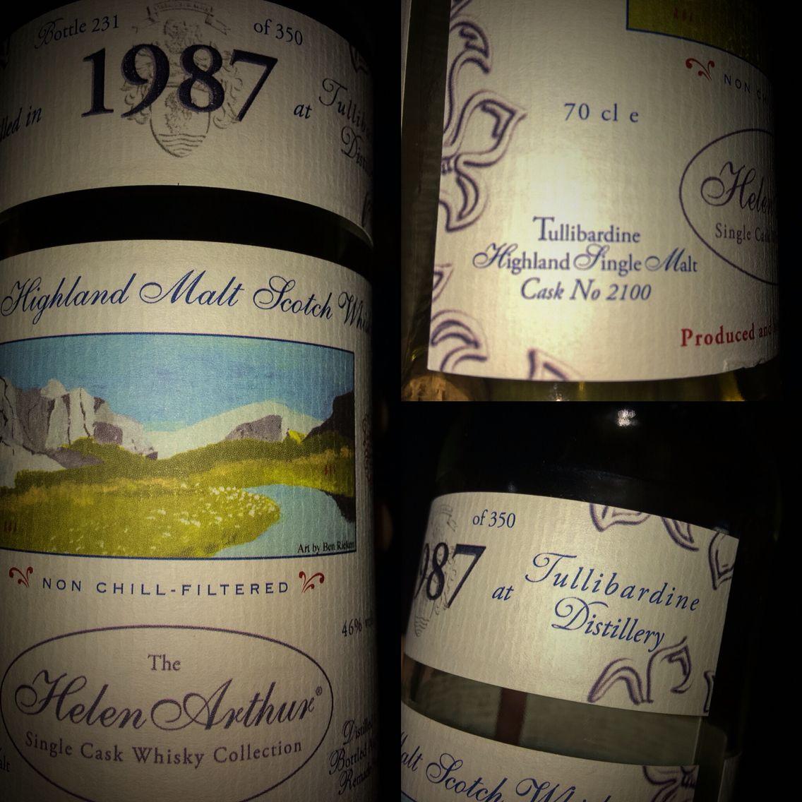 Tullibardine bottled for the Helen Arthur Single Cask Collection