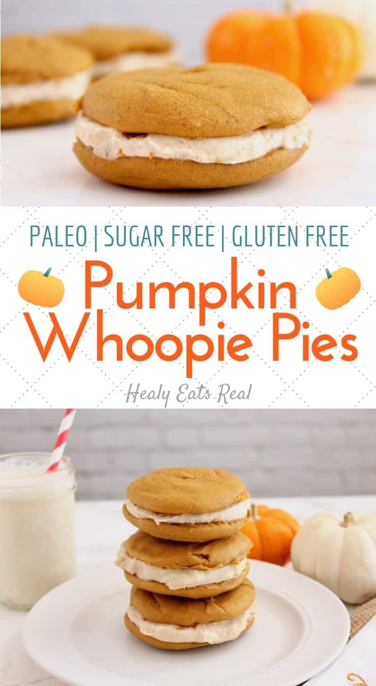 Pumpkin Whoopie Pie Recipe (Paleo, Sugar Free, Gluten Free