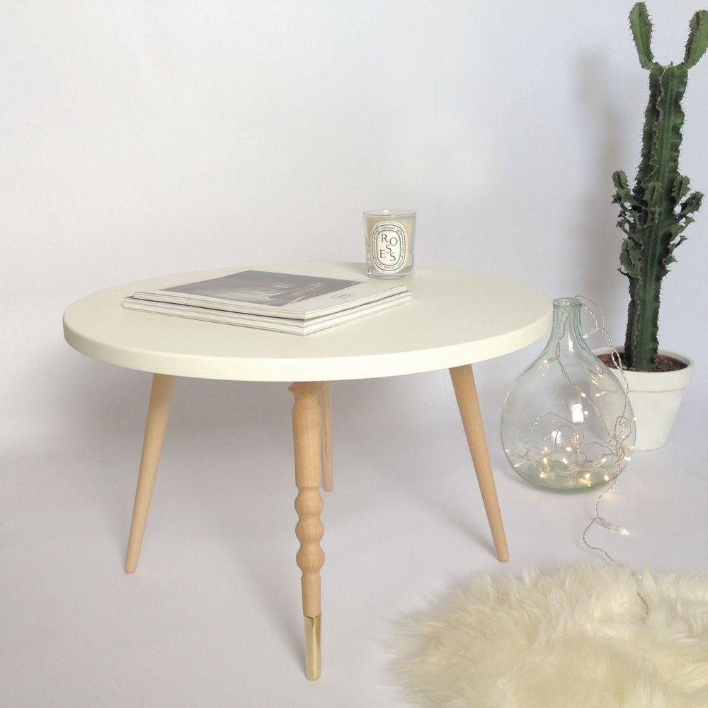 Table Basse My Lovely Ballerine 37 Cm Ronde Hetre Ou Noyer Table Basse Table Basse Design Table Enfant