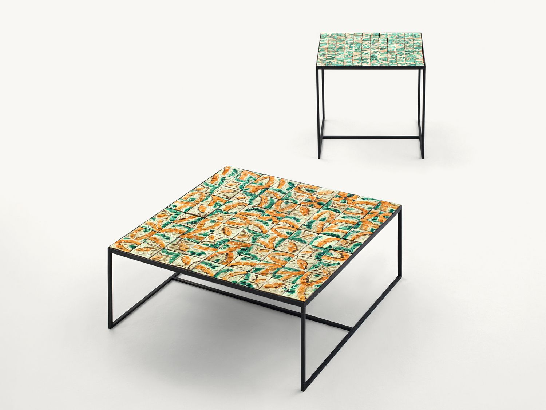 Tavoli Da Giardino Catania.Tavolino Da Giardino In Maiolica Cocci By Paola Lenti Design Marella