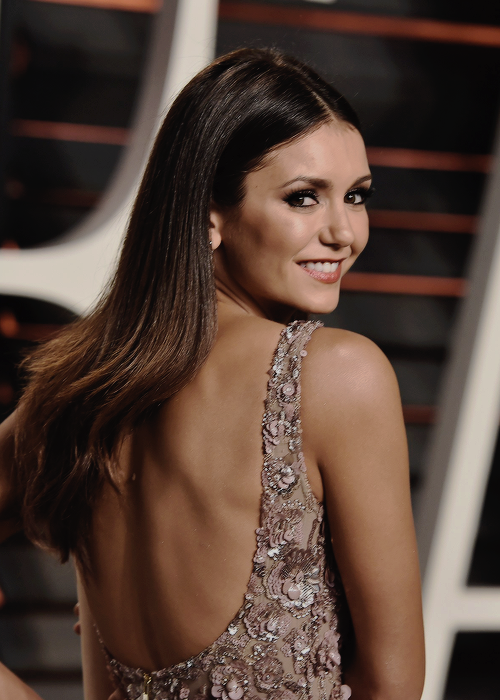Nina Dobrev attends the 2016 Vanity Fair Oscar Party Hosted By Graydon Carter at the Wallis Annenberg Center for the Performing Arts on February 28, 2016 in Beverly Hills, California.
