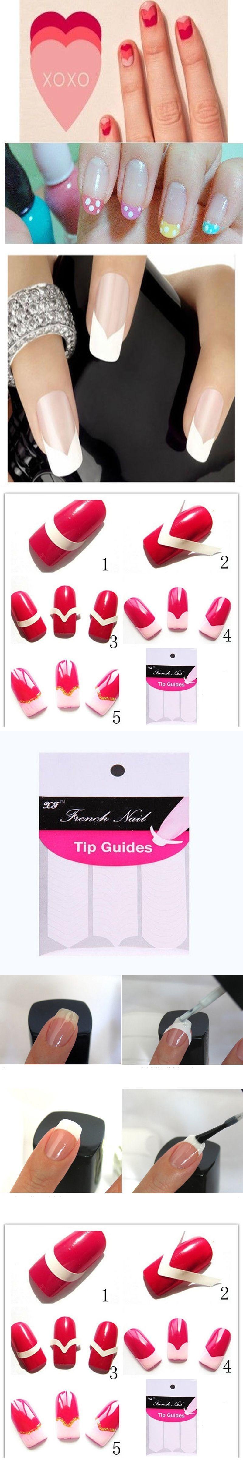 240PCS Portable Nail Art/ Fashion DIY Guides Stickers For Women Nail ...