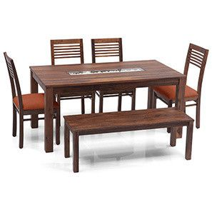 23++ Dining table with bench online india Tips