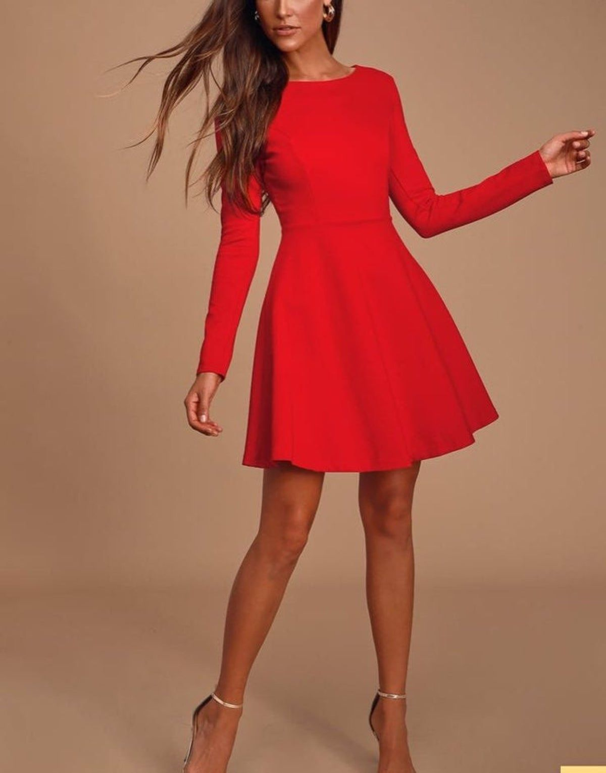 Lulu Rsquo S Forever Chic Red Dress In 2021 Red Long Sleeve Dress Red Dress Outfit Cute Red Dresses [ 1530 x 1200 Pixel ]