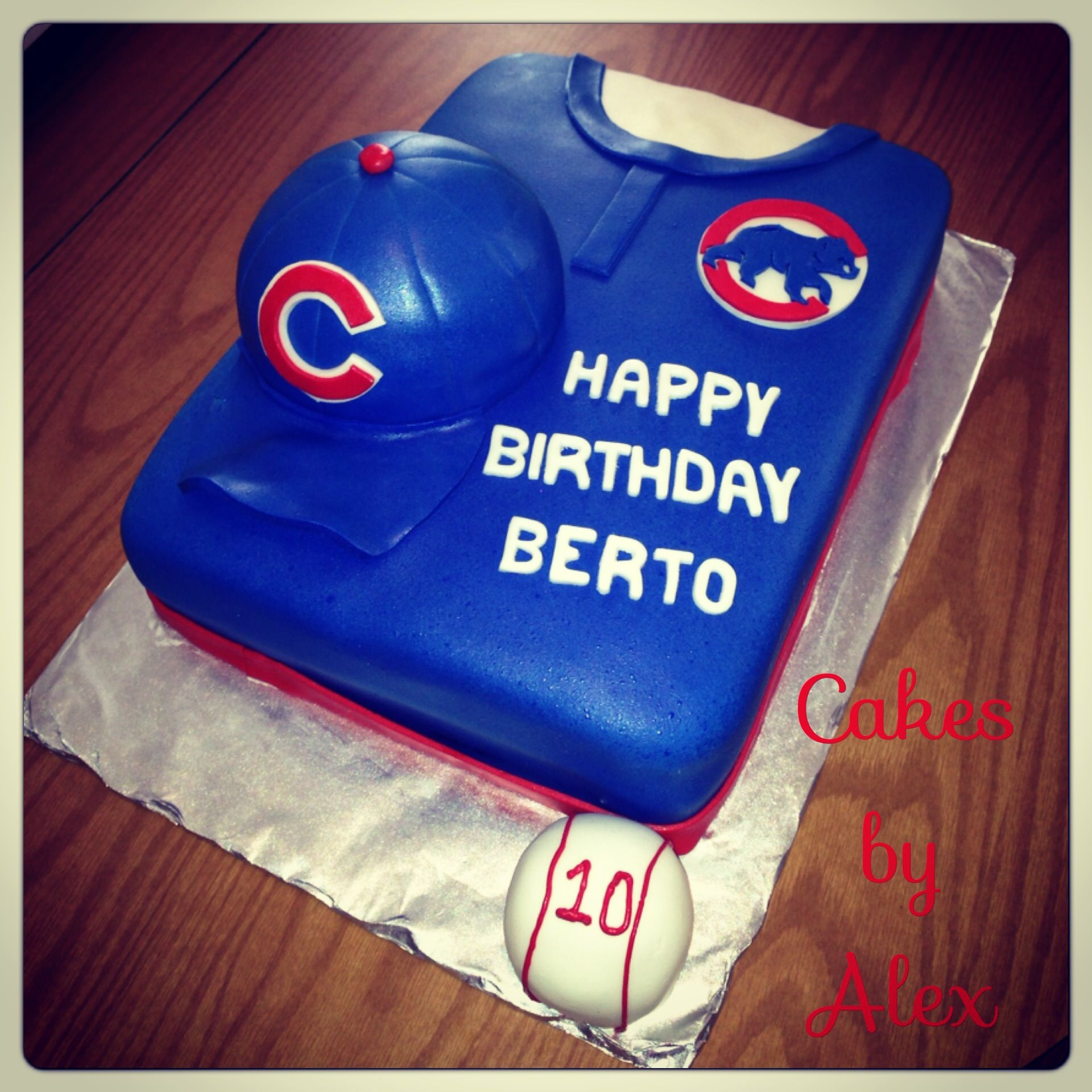 Chicago Cubs Birthday Cake With Images Cubs Birthday Party