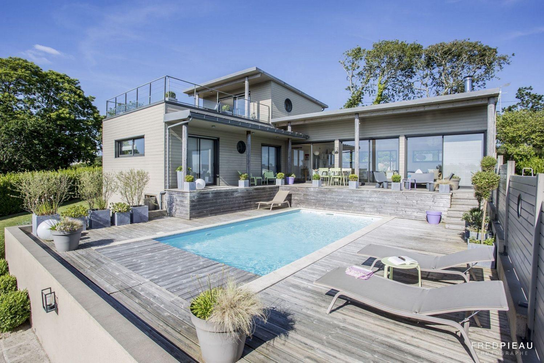 Vente maison vue mer avec piscine baie de douarnenez
