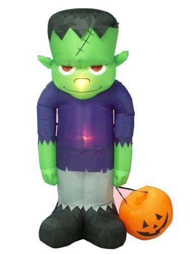 8 Foot Huge Halloween Inflatable Frankenstein Monster Yard - halloween inflatable decorations