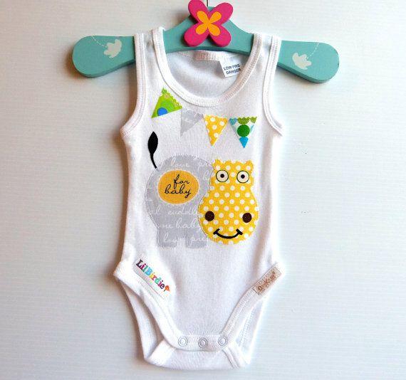Hipopótamo bebé Body Enterizo Unisex regalo del bebé
