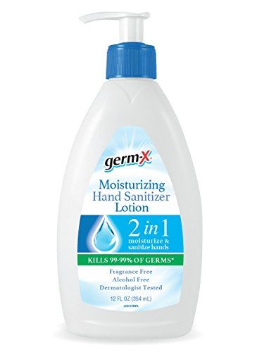 Germx 1000042964 Moisturizing Hand Sanitizer Lotion 12 Oz Pack Of