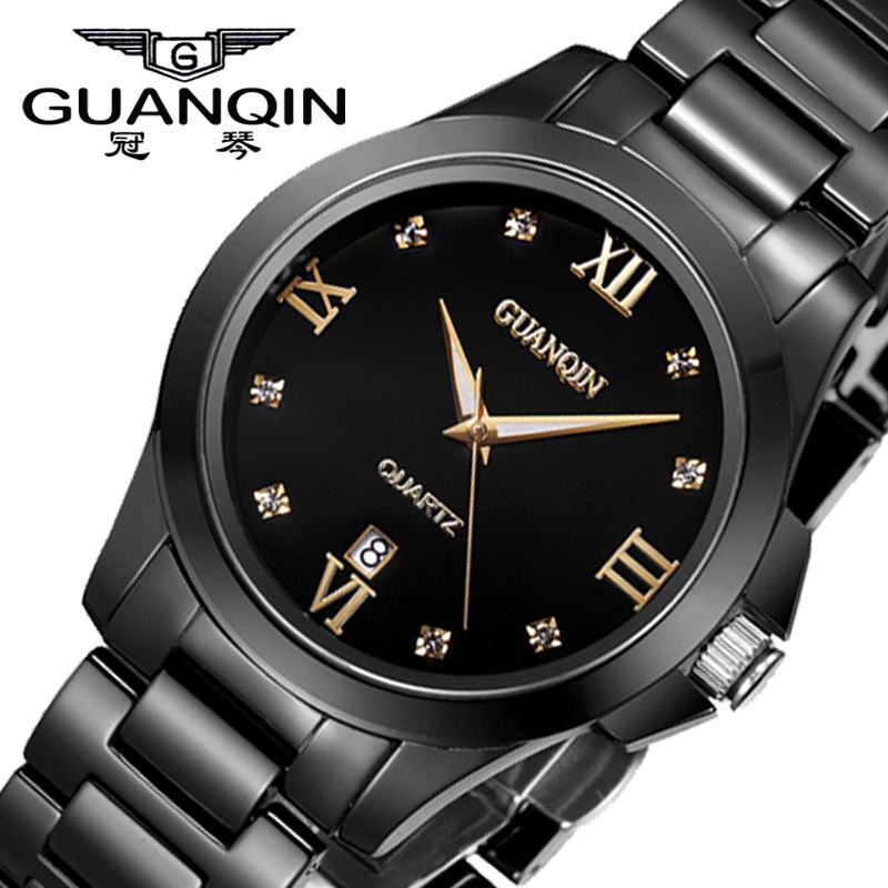 cermica guanqin hombres relojes de cuarzo reloj de hombres de marca famosa estilo reloj impermeable