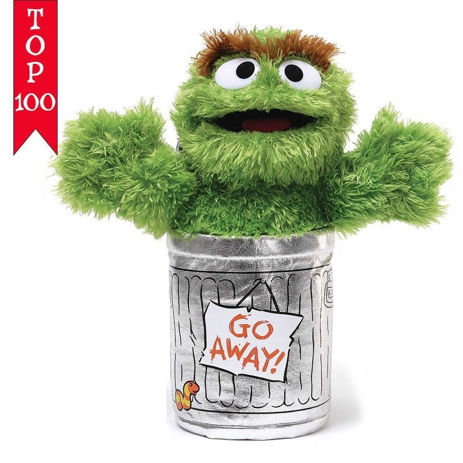 """10/"""" Plush GUND Sesame Street OSCAR THE GROUCH Go Away"""