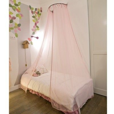 baldaquin rideaux ciel de lit paillettes rose mouche lit baldaquin enfant. Black Bedroom Furniture Sets. Home Design Ideas