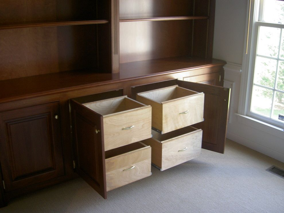 Built In File Cabinets Could Be Installed In Existing