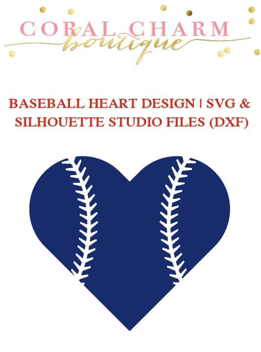 Baseball Heart File For Cutting Machines Svg And