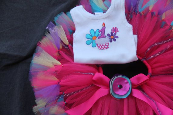 Posh Petti Tutu 1st Birthday Set Baby Tutus by PirouetteBoutique, $55.95