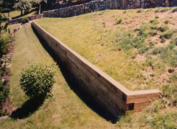 Image result for retaining wall railroad ties | Scandinavian Travel ...