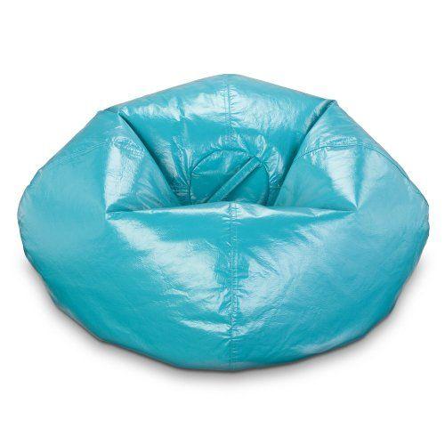 Ace Bayou Vinyl Aqua Blue Bean Bag Chair 5462 Free Shipping On Sale