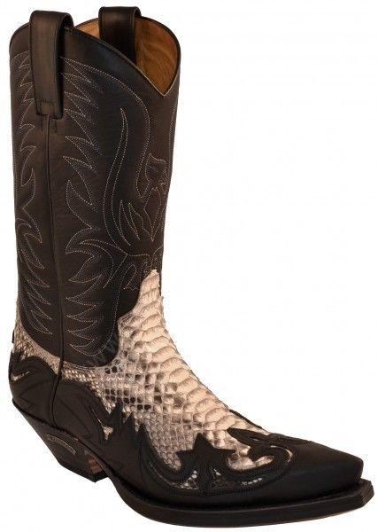 f60efe04b4a Corbeto's Boots | 3241 Cuervo Sprinter Negro-Pitón Barriga Natural ...