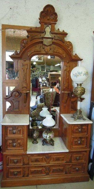 Victorian Nbsp Era Vanity Dresser With Mirror Nbsp Nbsp Nbsp Nbsp Antique Nbsp Vanity Dresser Elegant Home Decor Shabby Chic Dresser Eastlake Furniture