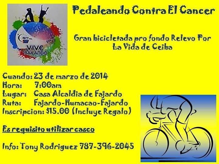 Pedaleando Contra el Cáncer @ Casa Alcaldía, Fajardo #sondeaquipr #pedaleandocontraelcancer #fajardo
