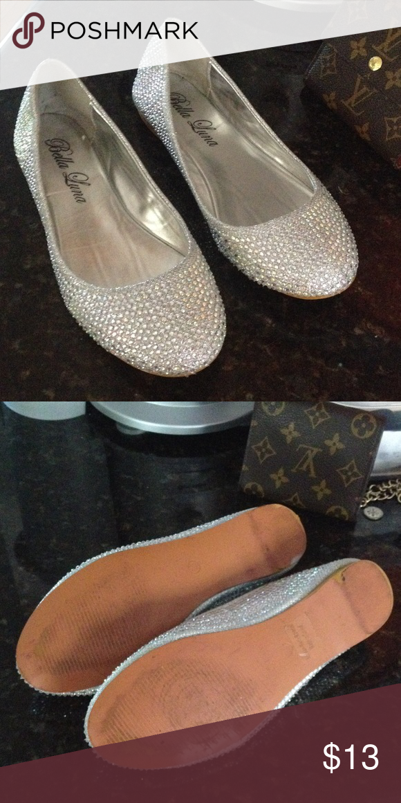 f1c11a9e7683 Rhinestone flats size 6. Used twice. Size 6 very Sparkly. Shoes Flats    Loafers
