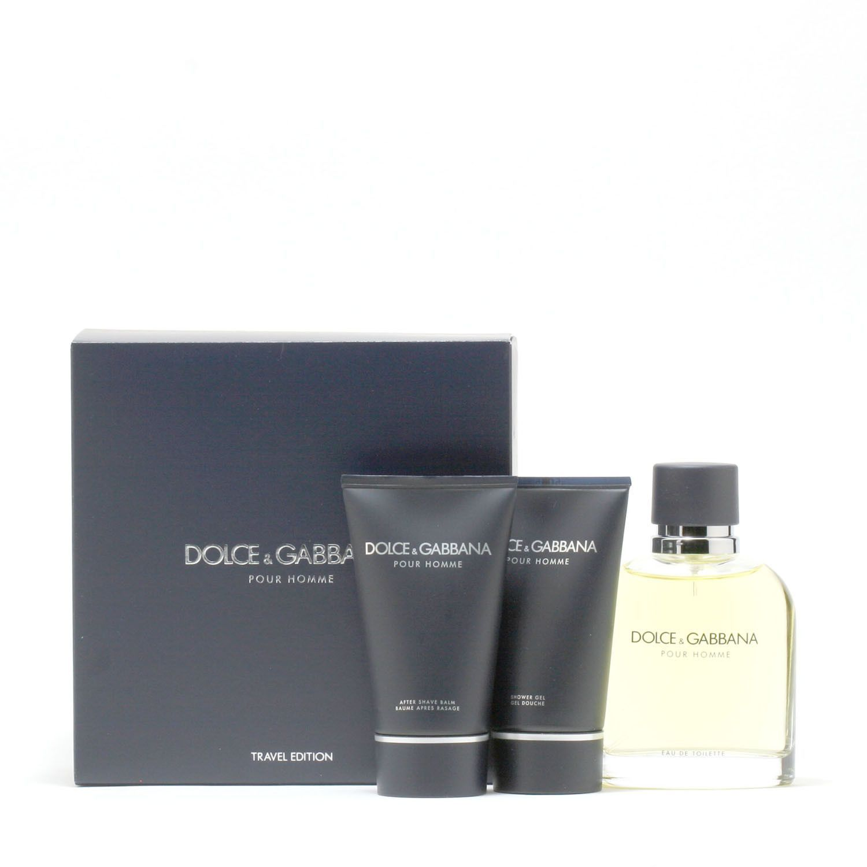 Dolce & Gabbana Pour Homme 4.2 Oz Spray/1.7 Oz Aftershave Balm/1.7 Oz Shower Gel