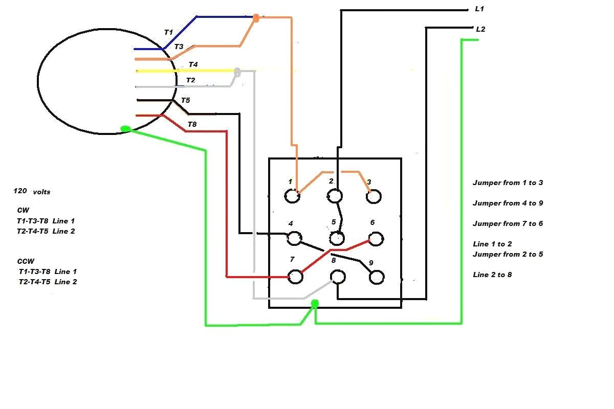 Starting Capacitor Wiring Diagram With Single Phase Motor Start At