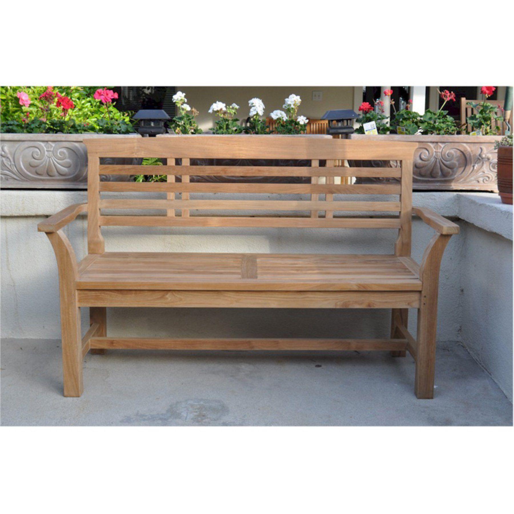 Anderson Teak Sakura 2 Seat 4 7 Ft Outdoor Bench Bh 257