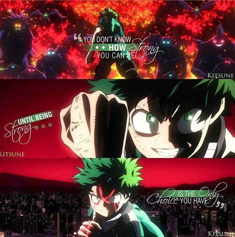 Midoriya Izuku Boku No Hero Academia Anime Quote Hero Quotes Anime Quotes Anime Quotes Inspirational