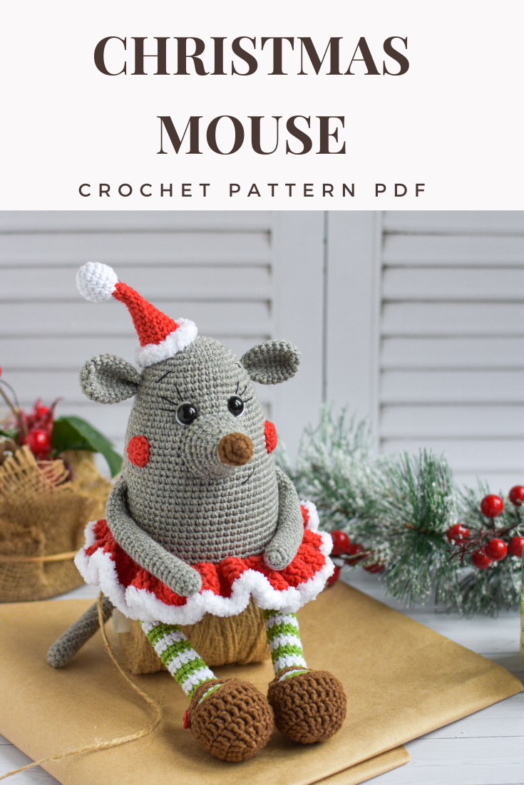 Crochet Pattern Christmas 2020 Crochet PATTERN Christmas Mouse Amigurumi Symbol 2020 | Etsy in