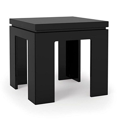 Bowery Hill Square End Table In Glossy Black End Tables Home Decor Table