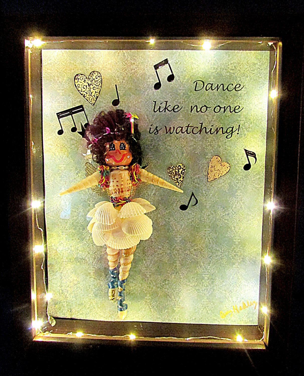 Dancer-ballerina gift-unique gift for her-lighted shadow box ...