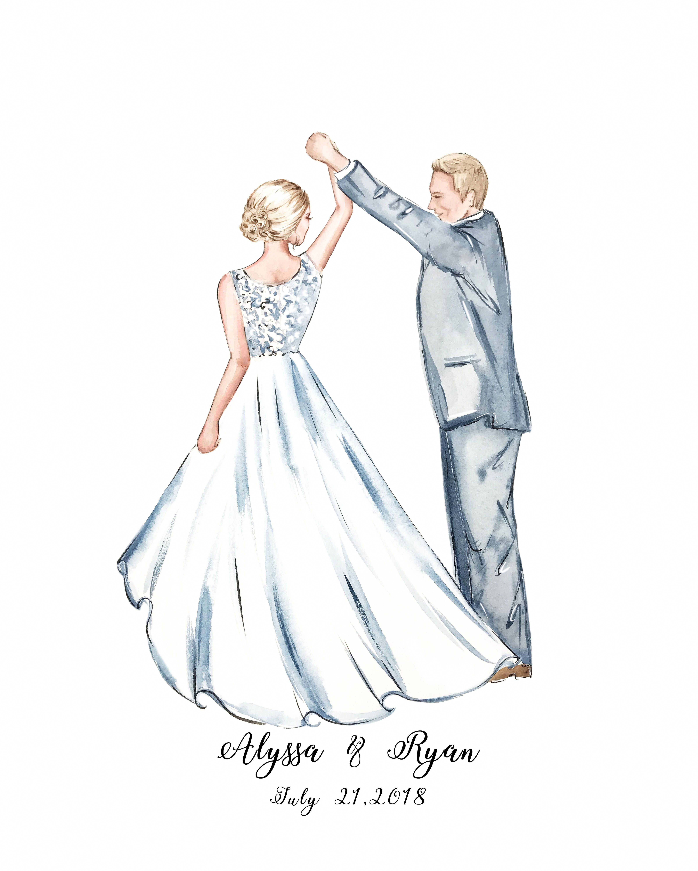 Funny Wedding Ideas For Reception: Fun Wedding Guest Book, Couple Portrait Guestbook