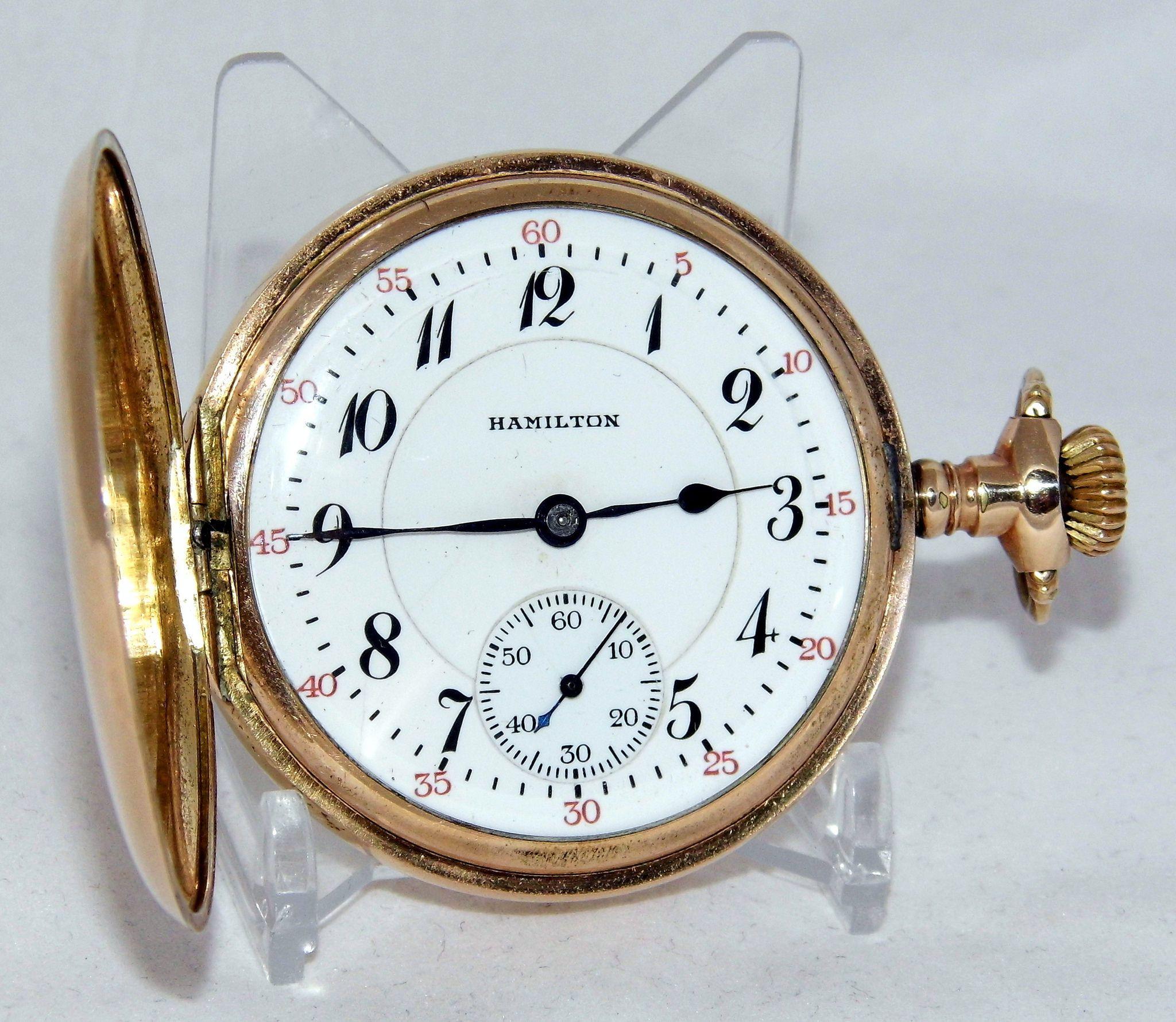 Vintage Hamilton Pocket Watch, Model 2, Grade 993, Size