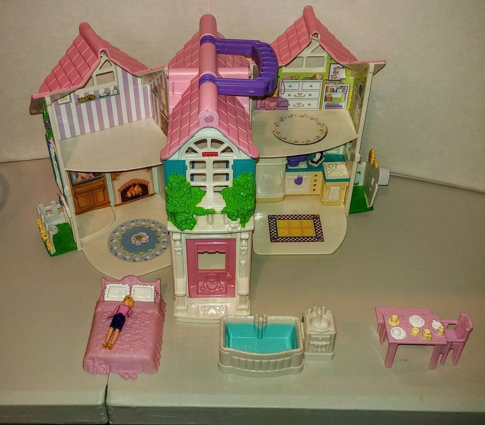 Fisher Price Sweet Streets 2 Story Playhouse Cottage with