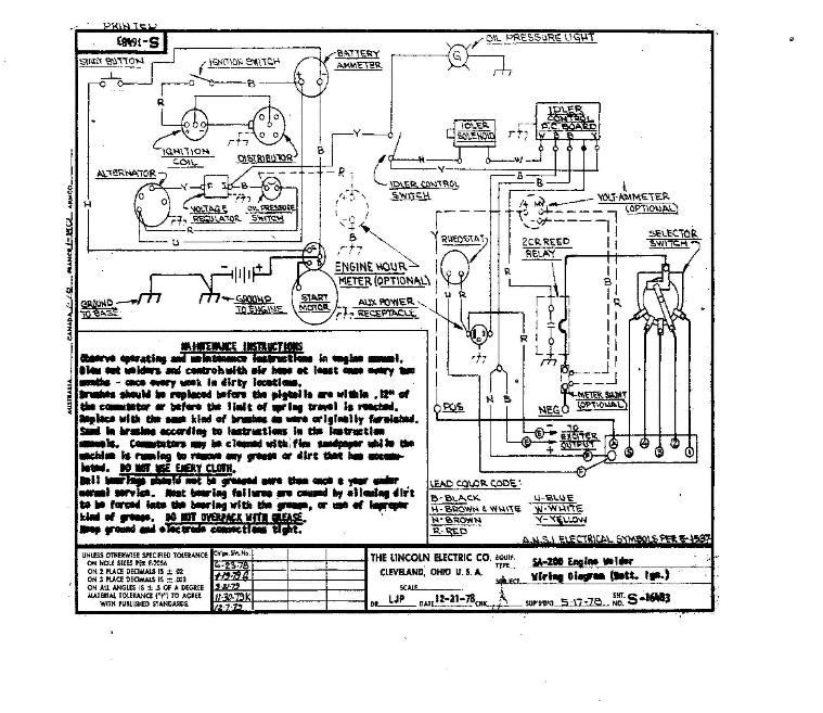 lincoln sa200 wiring diagrams lincoln sa 200 auto idle with dia rh pinterest com Lincoln 225 Welder Generator Wiring Diagrams SA-200 Remote Wiring