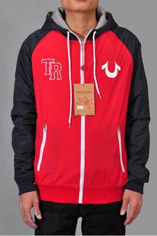 224083d04 Mens True Religion Hoodies Red Black- Double-side Wear