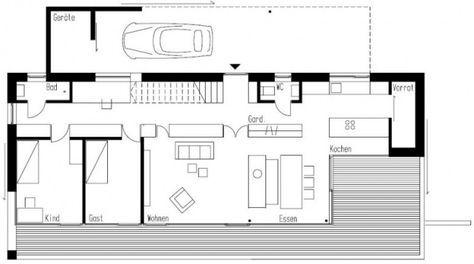 Architektur Grundriss modernes haus am hang weinfelden km architektur grundriss plans