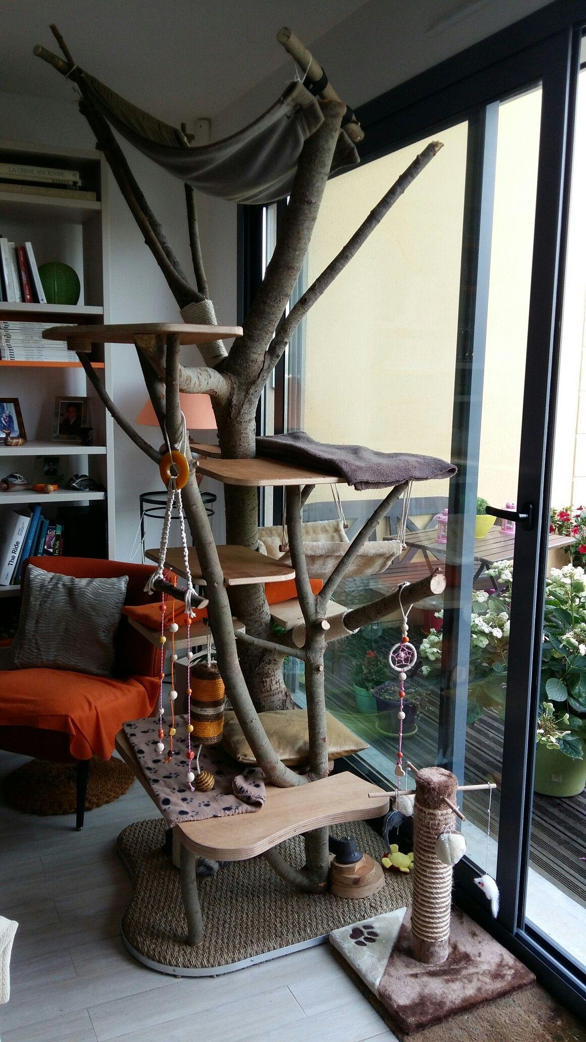 diy notre arbre chat maison chat cat tree cat. Black Bedroom Furniture Sets. Home Design Ideas