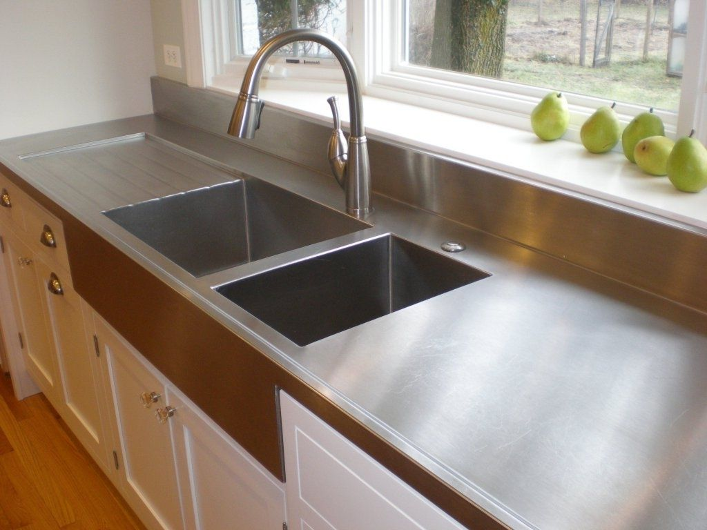 Diy Stainless Steel Countertops Midcentury Medium Stainless