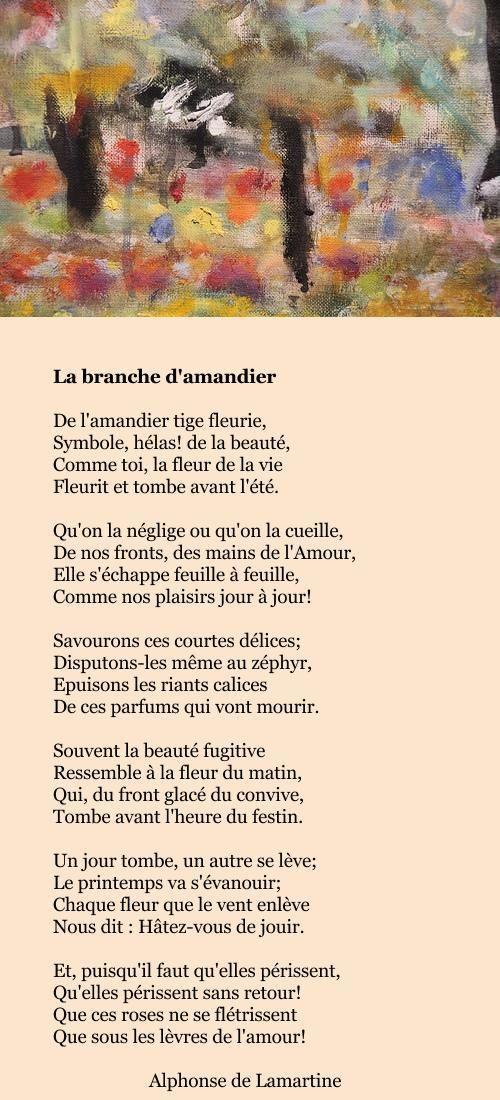Lamartine La Branche Damandier L P C Poeme Et