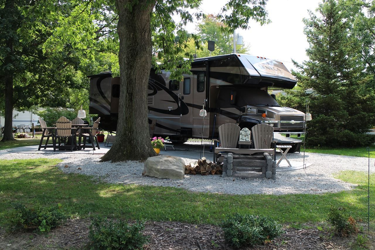 Marvelous Patio RV Site At The Thompson/Grand River Valley KOA Holiday