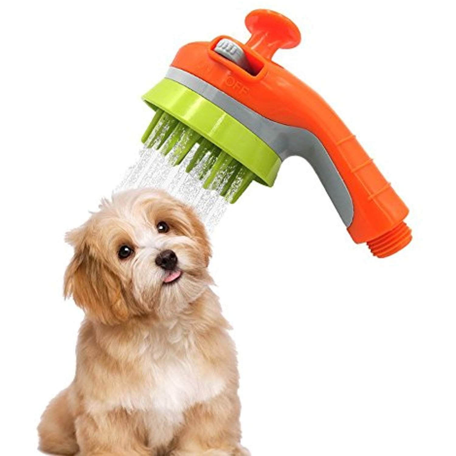 Pet Shower Sprayer Dog Cat Grooming Brush Massage Combing