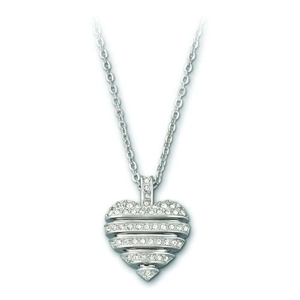 This delicate pendant offers a #modern and #innovative interpretation of the #heart. Carefully crafted in rhodium-plated metal, it presents a #delicate, dangling heart adorned with clear #crystal #pavé. #Swarovski #necklace #pendant #romantic #gift #staugustine #florida #shop #local $100.00