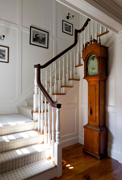 Great Traditional Staircase With Crown Molding By Patrick Ahearn Staircase Design Stairs Design Traditional Staircase